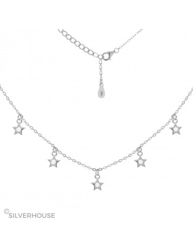 0900381- Gargantilla de plata 7 estrellas