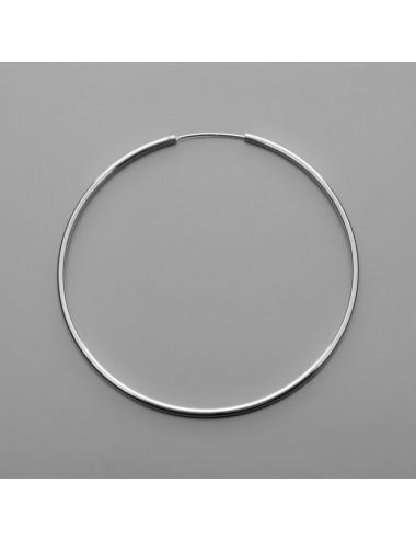 PENDIENTE PLATA ARO LISO 1.5 x 55 mm 1 PAR