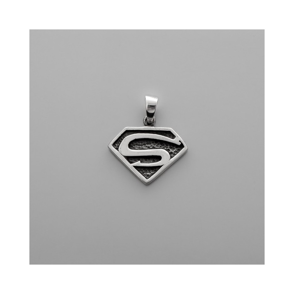 COLGANTE PLATA SUPERMAN